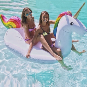 Unicorn rainbow floating