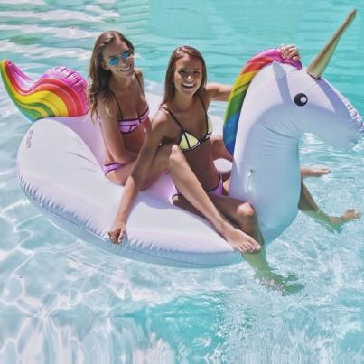 Unicorn rainbow floating
