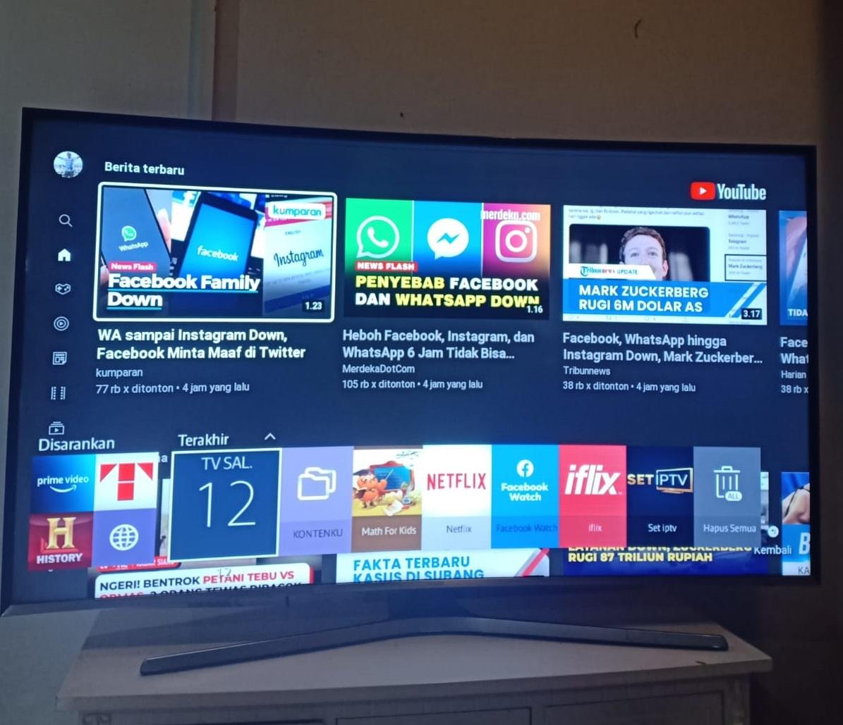 smart tv 55 inchi samsung