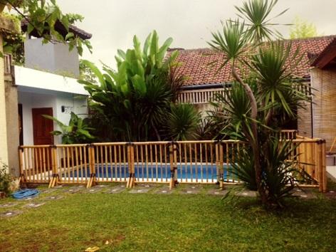 Bamboo Pool fence